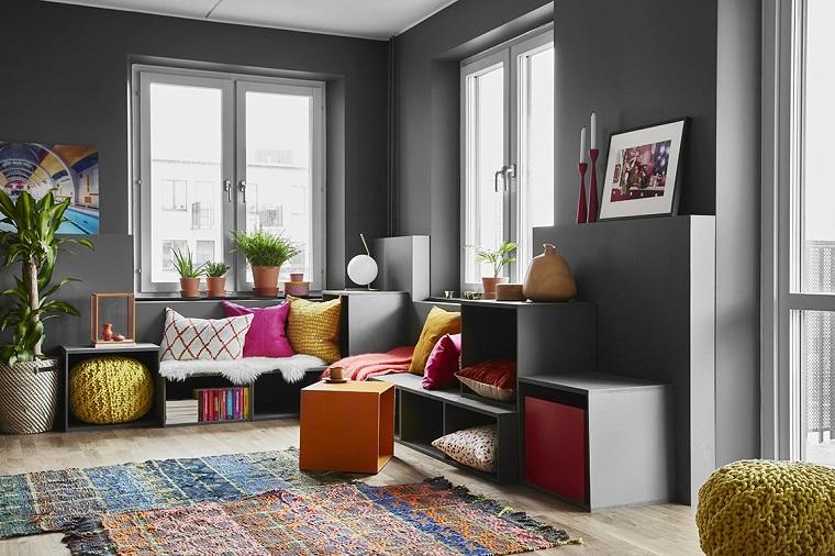 Colori pareti soggiorno suggerimenti per scegliere la for Pareti soggiorno grigio