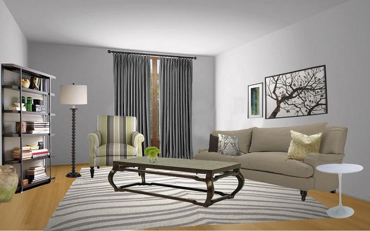 colori pareti soggiorno proposta elegante grigio