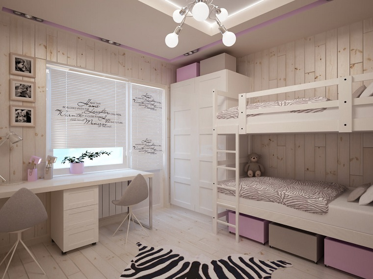 Camerette per ragazze moderne tante idee originali per - Disposizione mobili cameretta ...