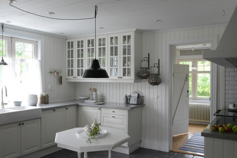 Cucina ad angolo ispirazioni per un arredo di design per - Top cucina grigio ...