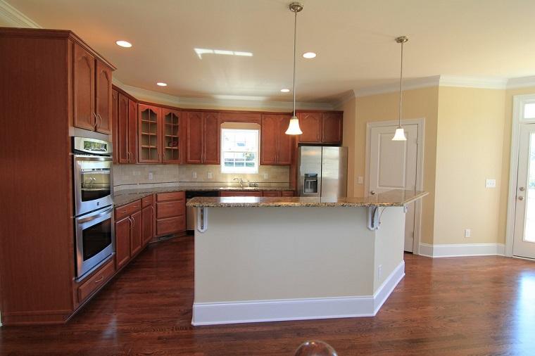 cucina angolare mobili pavimento legno
