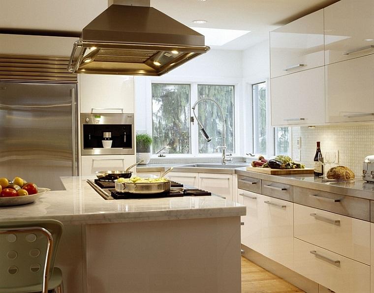 cucina angolare proposta funzionale pratica acciaio inox