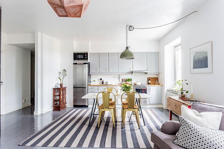 Cucina bianca e grigia un tocco di stile alla vostra zona giorno - Cucine stile scandinavo ...