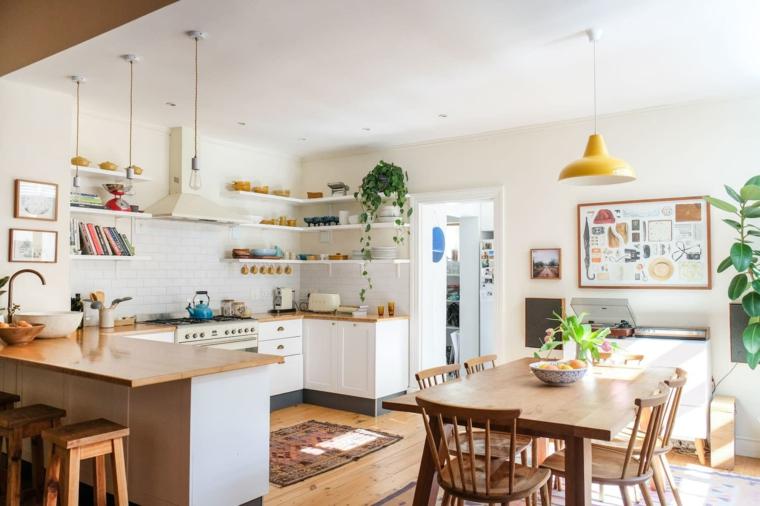 cucina arredata in stile scandinavo open space cucina e sala da pranzo