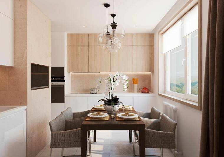 cucina arredo moderno set tavolo pranzo decorazioni