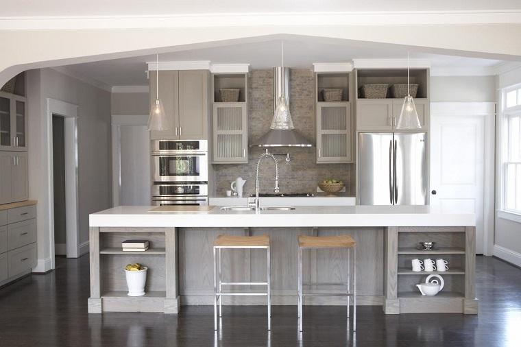 Cucina bianca e grigia un tocco di stile alla vostra zona giorno - Cucina bianca top grigio ...