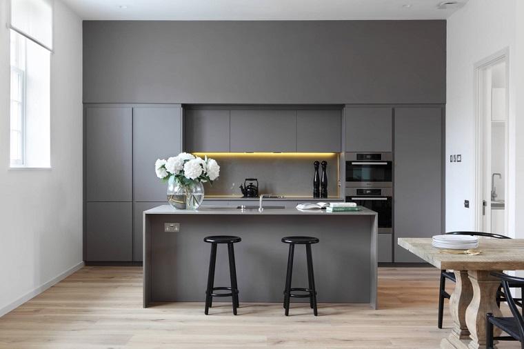 Cucina bianca e grigia: un tocco di stile alla vostra zona ...