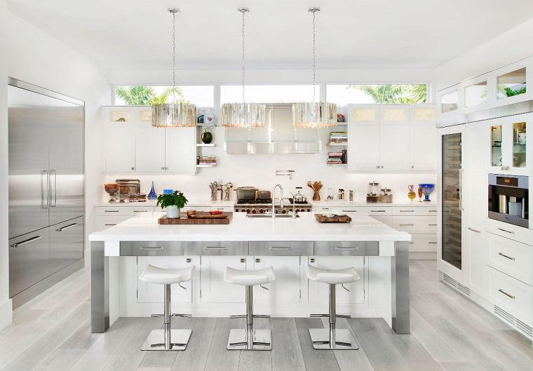 Cucina bianca e grigia un tocco di stile alla vostra zona giorno - Cucina bianca e legno ...