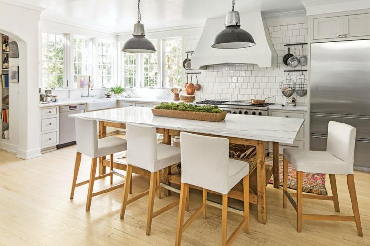cucina bianca moderna arredamento stile semplice funzionale