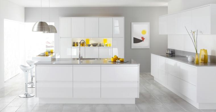 cucina bianca moderna design semplice pratico funzionale