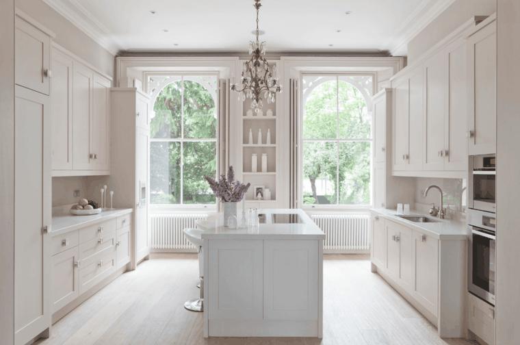 cucina bianca moderna idea design semplice funzionale pratico