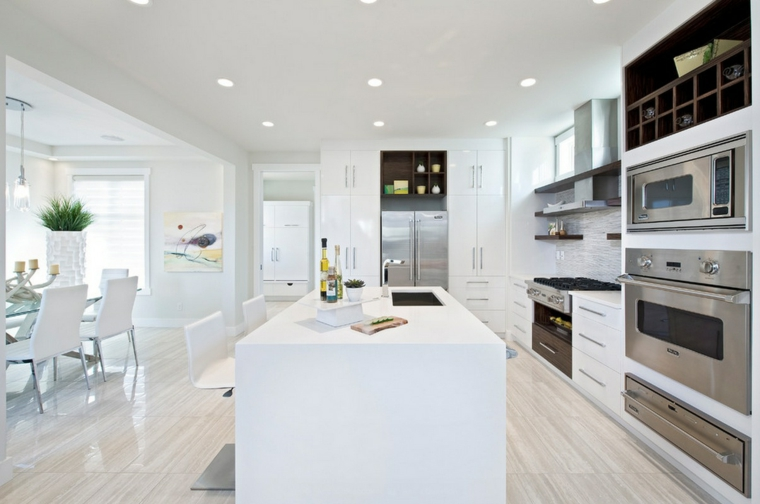 cucina bianca moderna idea design tendenza