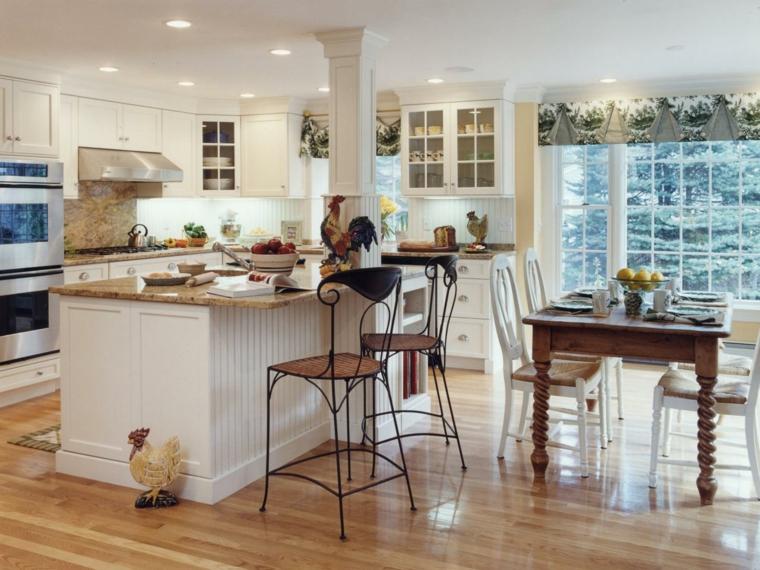 cucina bianca moderna idea particolare isola