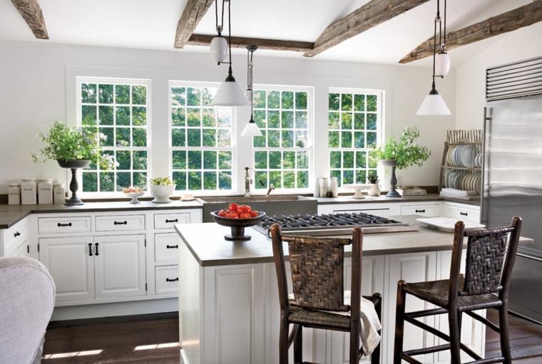 cucina bianca moderna proposta design originale raffinato