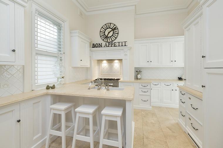 cucina bianca moderna proposta originale semplice