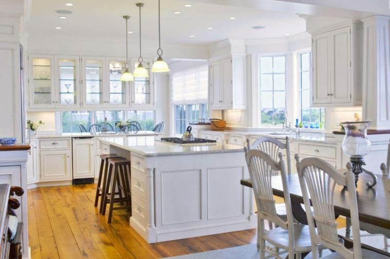 cucina bianca moderna semplice raffinata funzionale