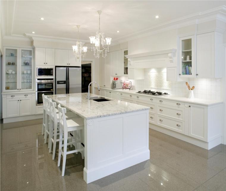 cucina bianca moderna suggerimento design semplice originale