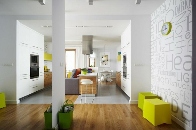 cucina bianca moderna suggerimento tendenza elementi colori freschi