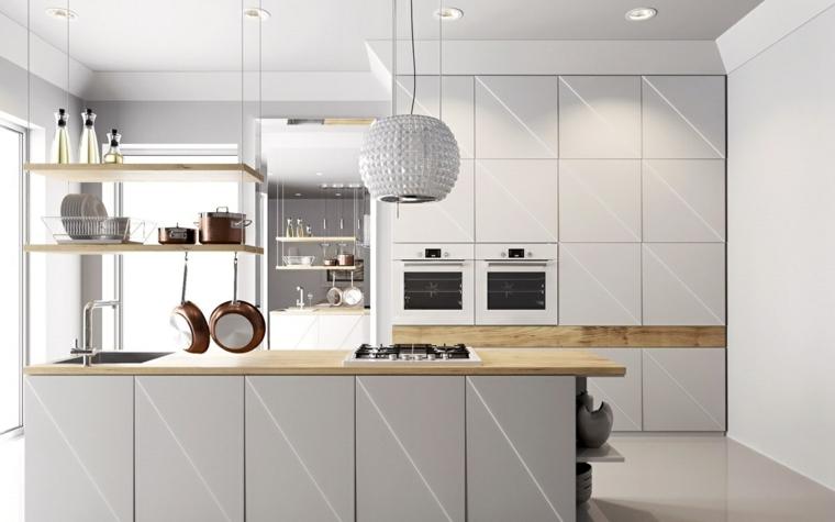 cucina bianca proposta design semplice funzionale