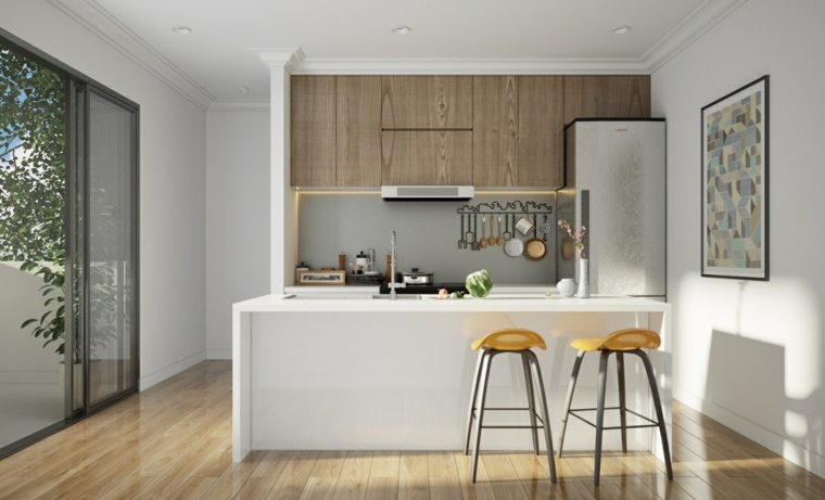 cucina bianca suggerimento semplice originale design moderno
