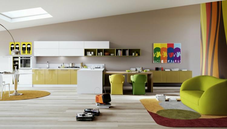 cucine colorate idea originale mobili freschi vivaci