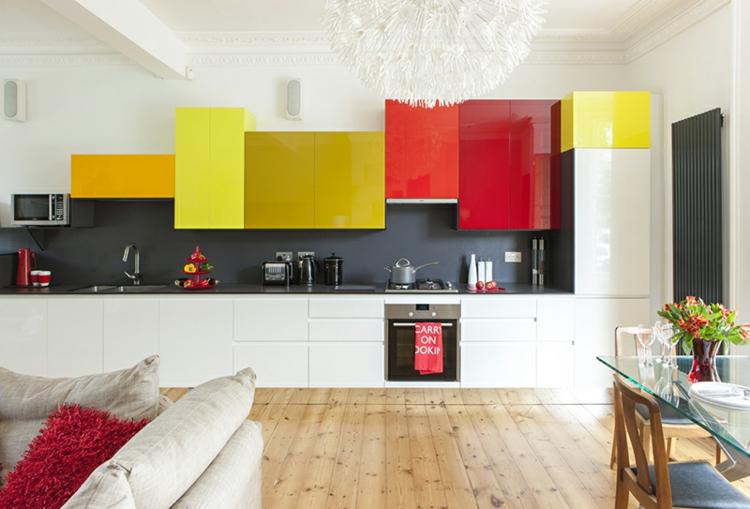cucine colorate idea particolare mobili freschi raffinati
