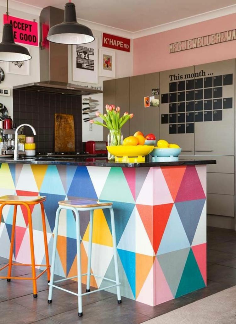 cucina colorata proposta originale colori vivaci