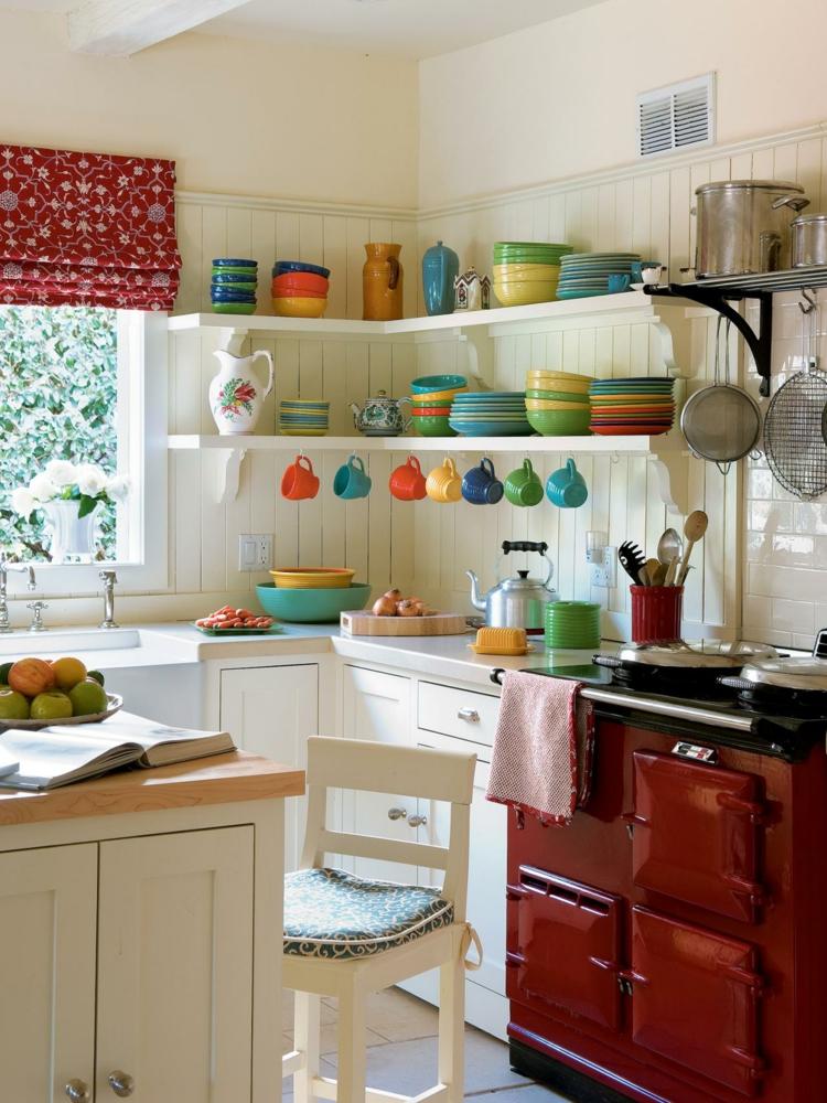 cucina colorata suggerimento chic raffinato elegante