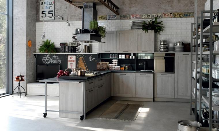 cucina con penisola idea design maschile stile