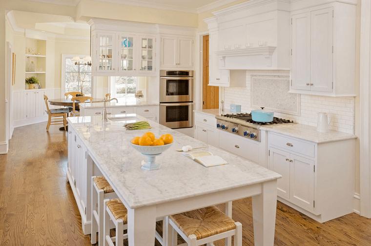 cucina isola colore bianco design moderno elegante