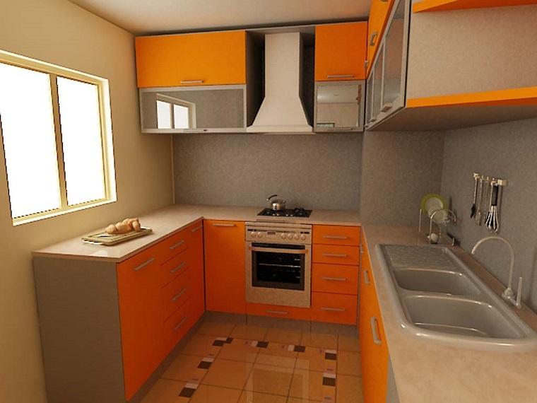 cucina piccola proposta colori moda