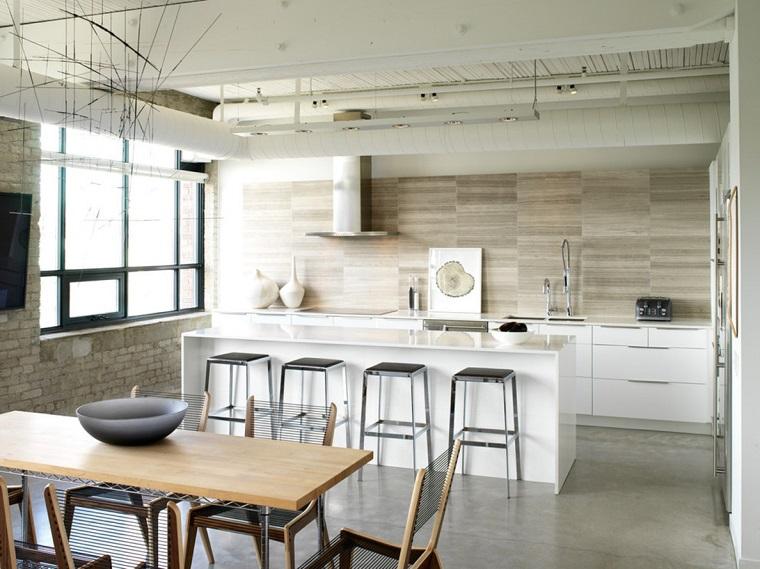 cucina semplice elegante stile industriale