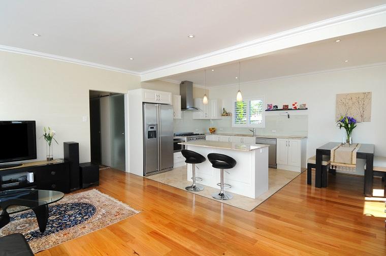 cucina soggiorno open space stile moderno