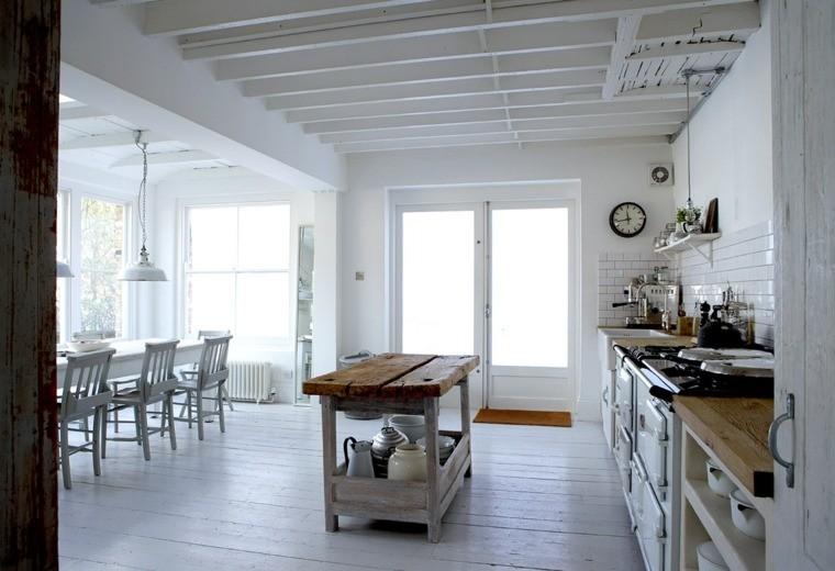 cucina stile country design elegante travi vista legno
