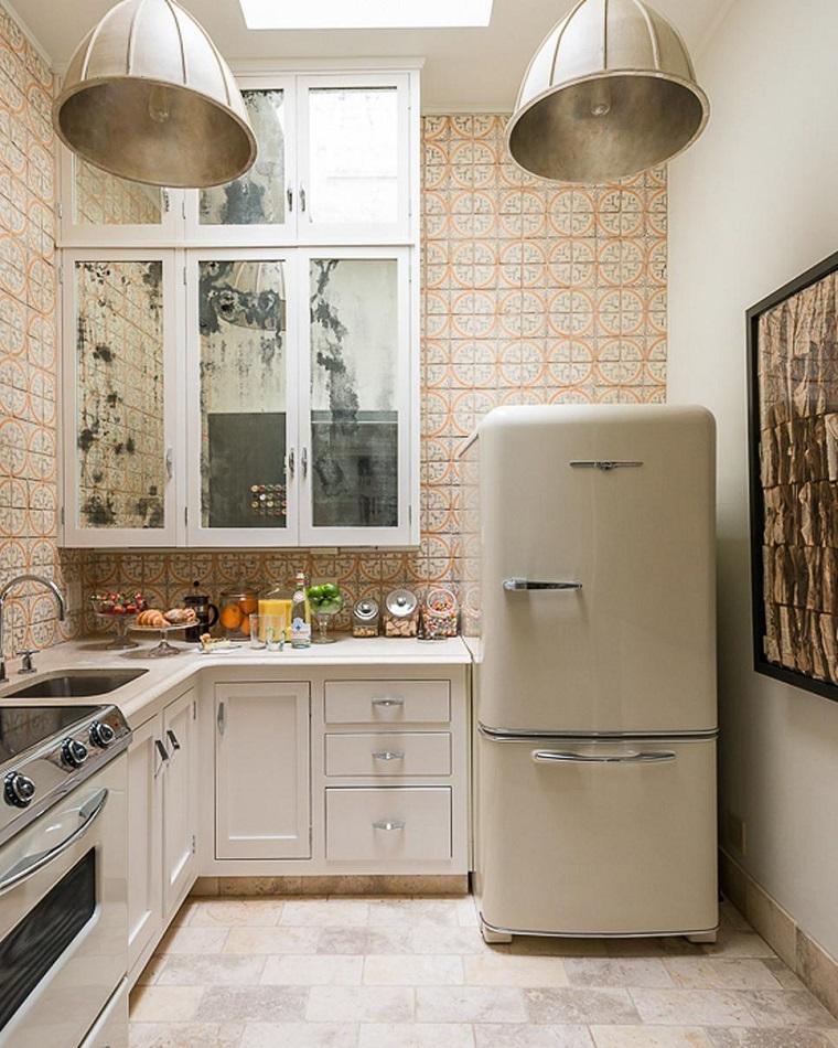 cucina vintage arredamento frigo esterno