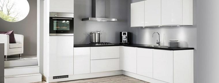 cucine ad angolo design moderno top nero