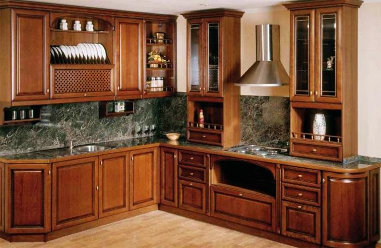 cucine ad angolo legno stile classico