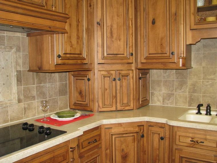 cucine ad angolo mobili legno chiaro