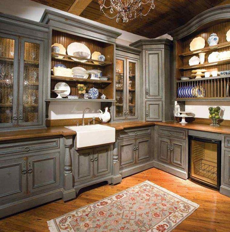 cucine ad angolo stile rustico