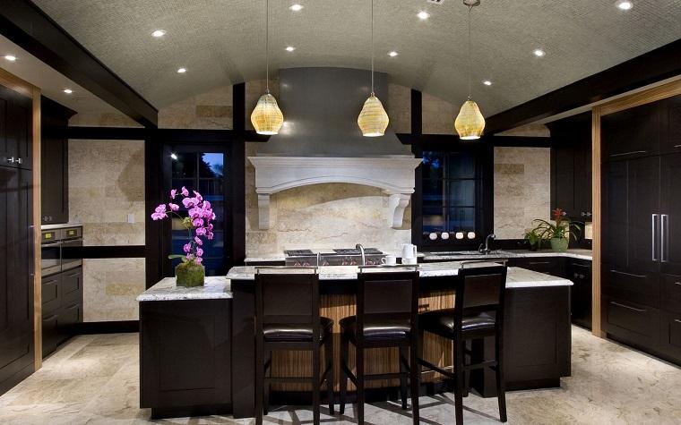 cucine bellissime legno granito