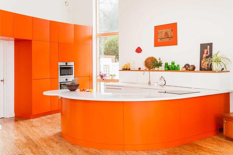 cucine bellissime proposta arancione brillante