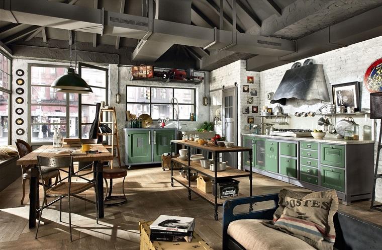 cucine bellissime proposta stile industriale