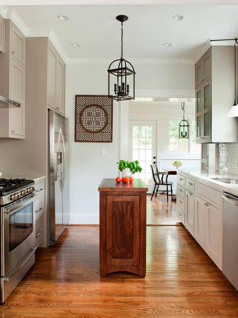 cucine piccole idea isola legno