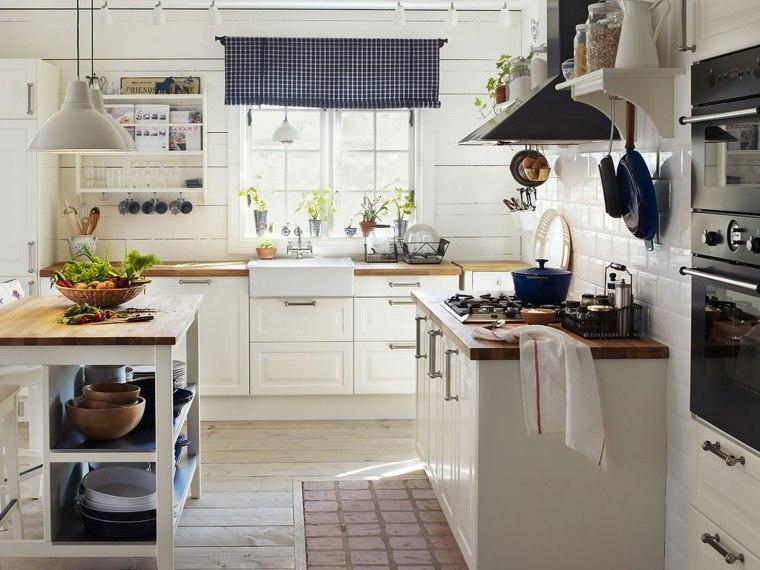 cucine stile country idea accenti colore blu