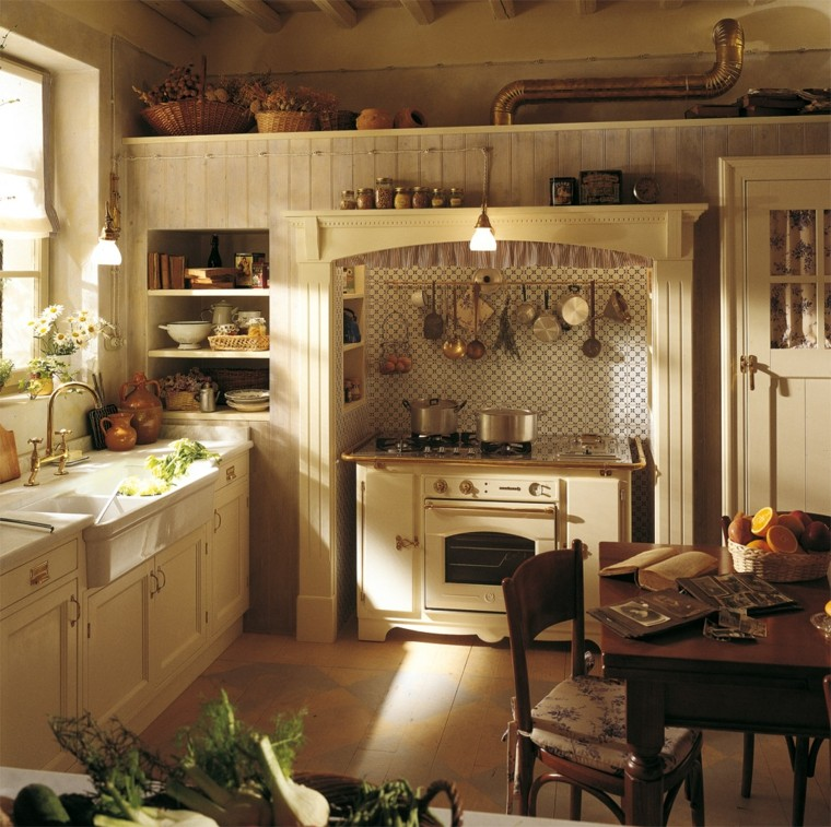cucine stile country lavabo ceramica