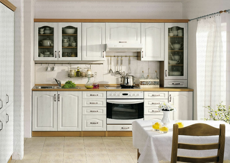 cucine stile country provenzale paraschizzi cucina in piastrelle bianche