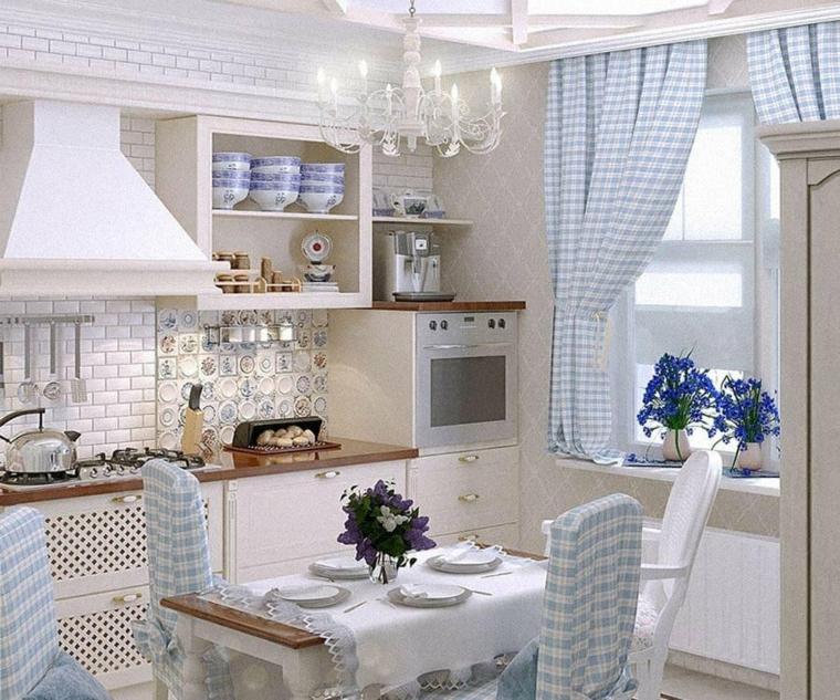 cucine stile provenzale cucina con top di legno open space sala da pranzo