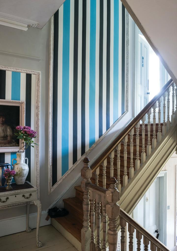 decorare casa idea originale parete fresca colorata