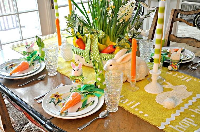 decorazioni di primavera idea tavola