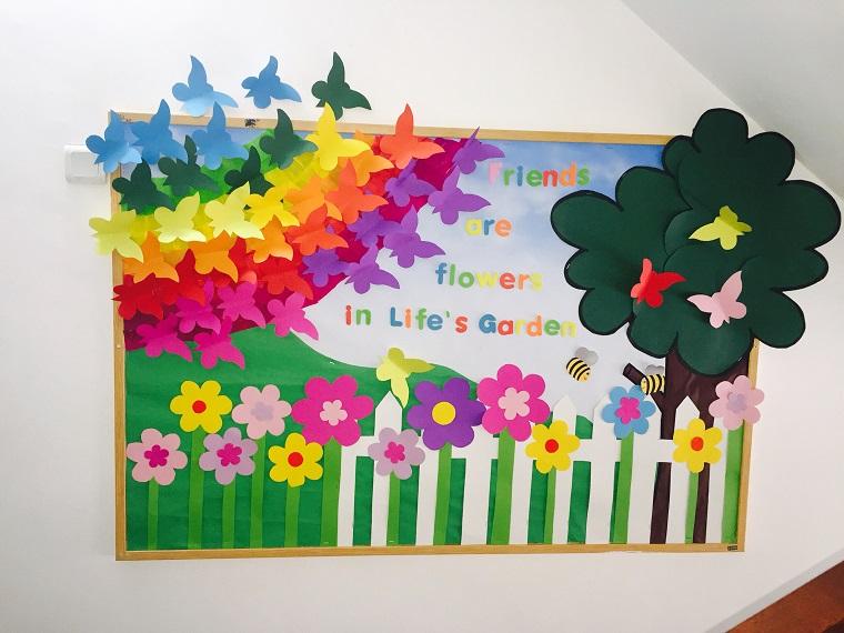 decorazioni di primavera poster colorato